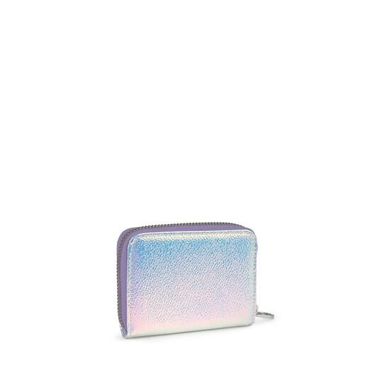 Medium Iridescent Lilac Dorp Change Purse