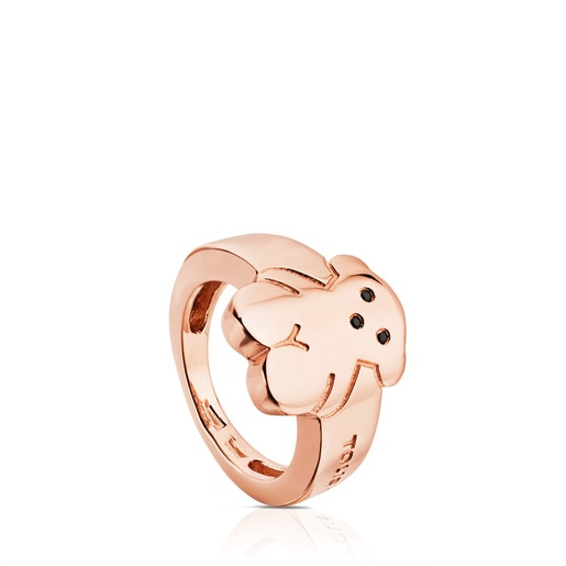 Pink Vermeil Silver Sweet Dolls Ring with Spinel