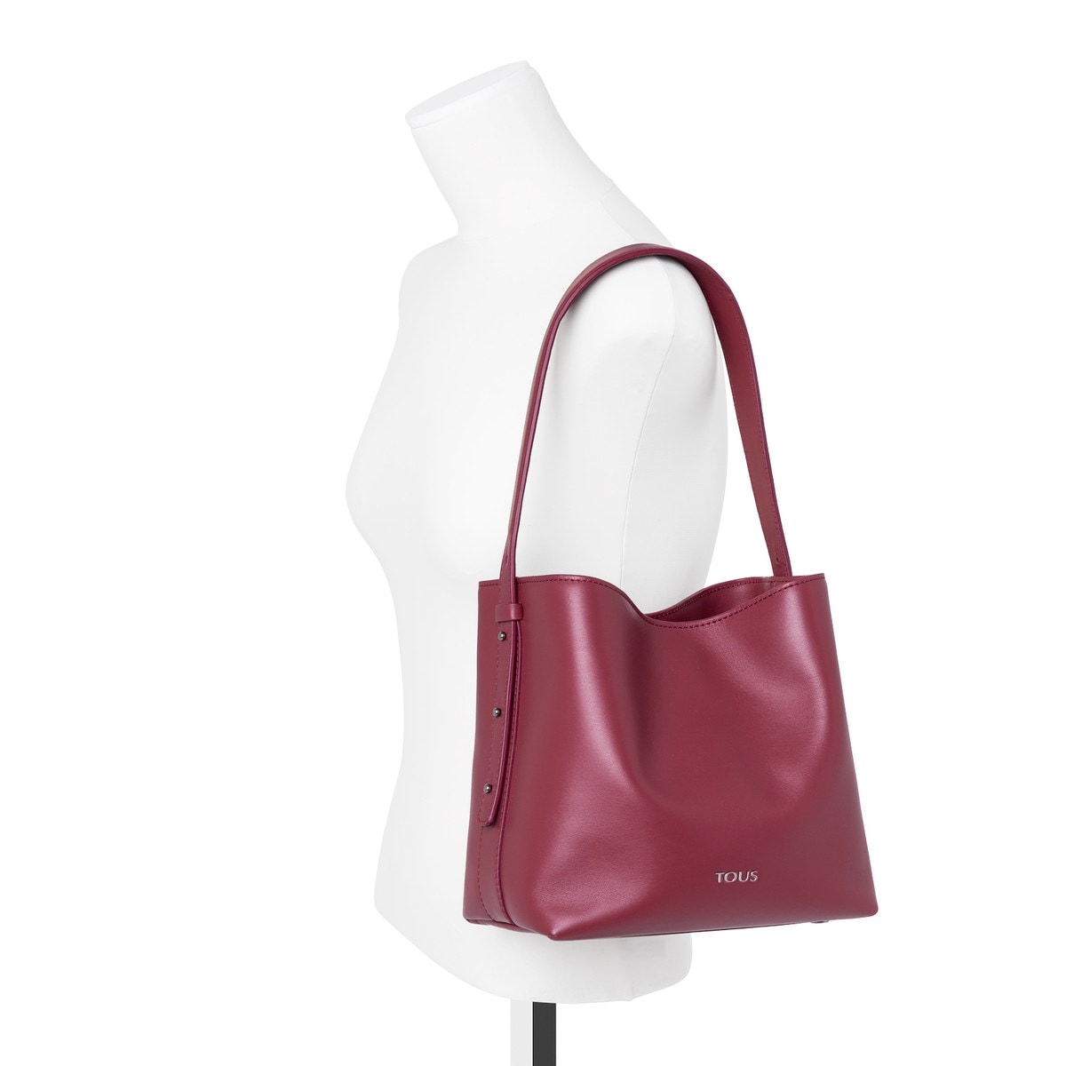 Small garnet Leather Sibil Shoulder bag
