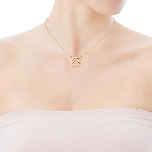 Bären-Halskette Hold aus Gold