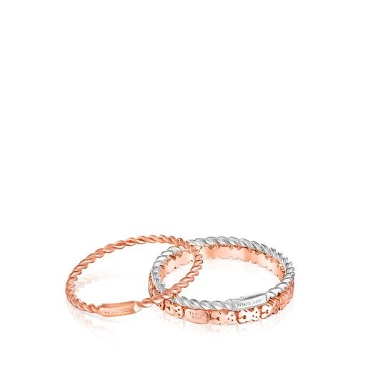 Pack de Anillos Ring Mix de plata, plata vermeil y plata vermeil rosa