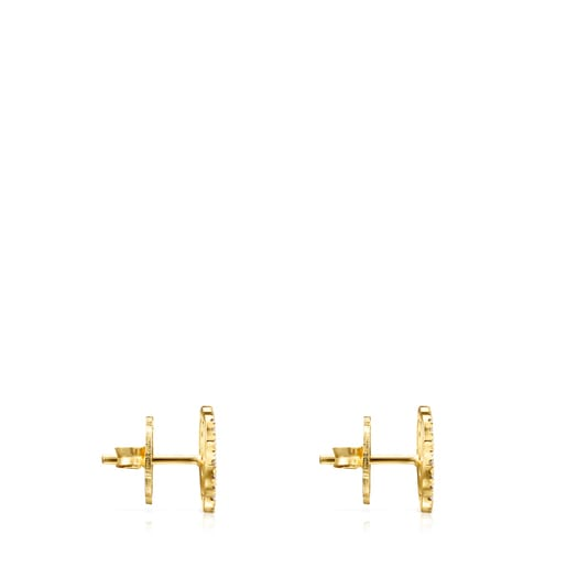 Gold ATELIER Rosa de Abril earrings with Diamonds