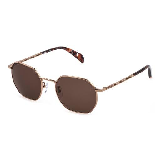 Chain Logo camel sunglasses