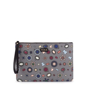 Gray Teatime Clutch bag