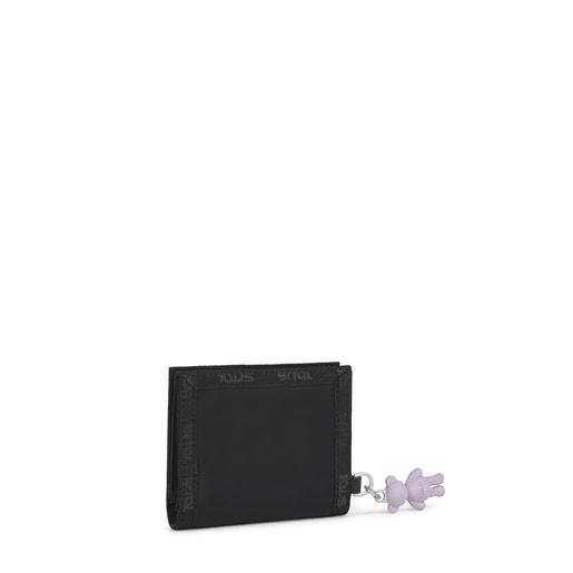 Kleine Geldbörse Ina in Schwarz und Grau