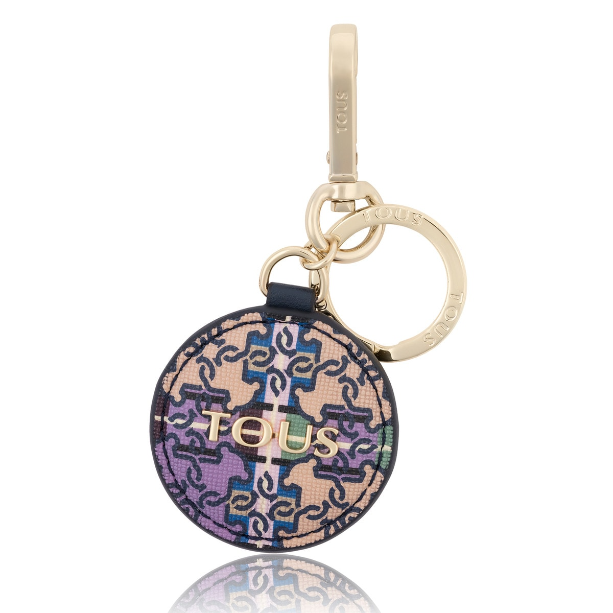 Lilac Mossaic Square Key ring