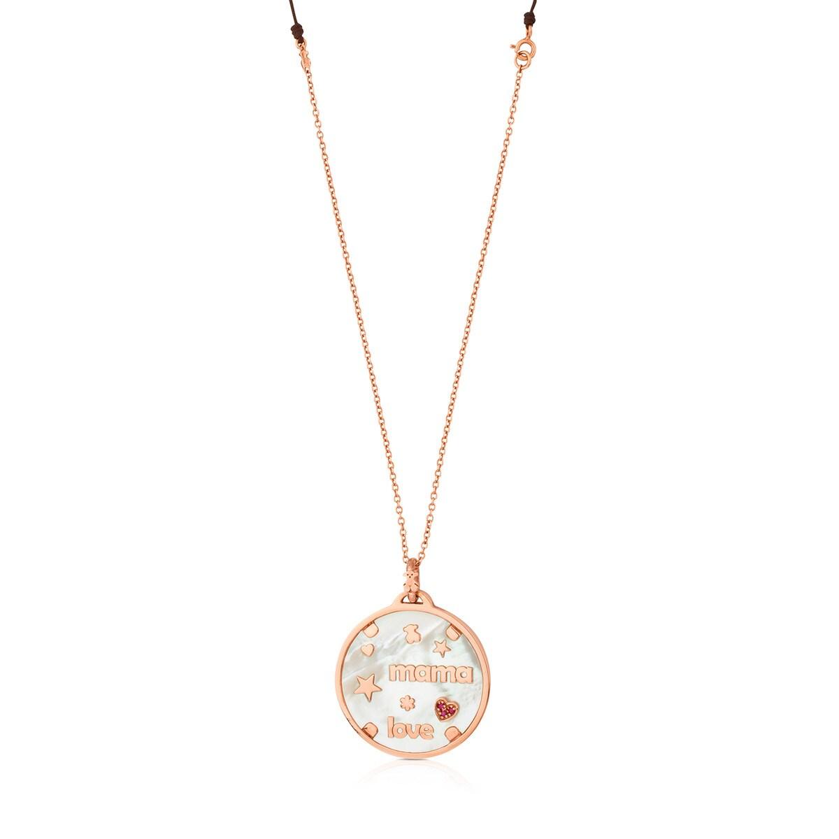 054c1c1f05 Collar TOUS Mama de Plata Vermeil rosa con Nácar y Rubí - Sitio web ...