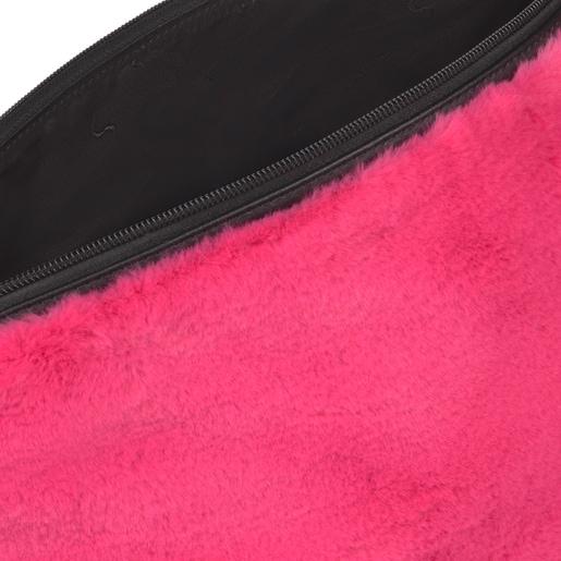 Medium pink Kaos Shock Fur Handbag