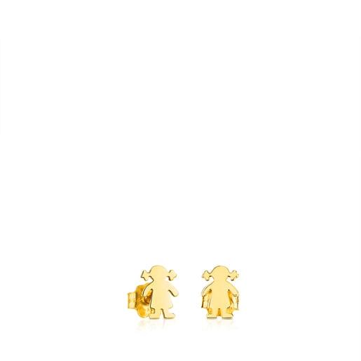 Brincos TOUS Basics em Ouro