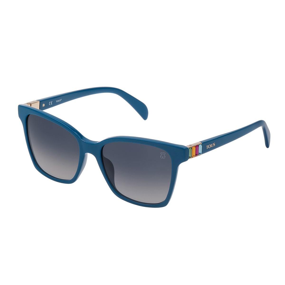 Blue Acetate Gems Squared Sunglasses