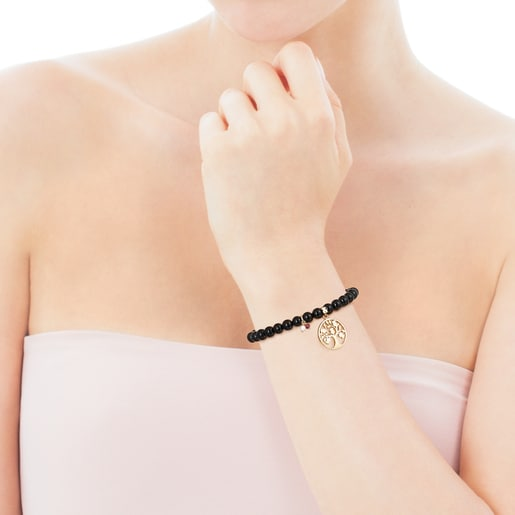 Silver Vermeil TOUS Good Vibes tree Bracelet with Shungites