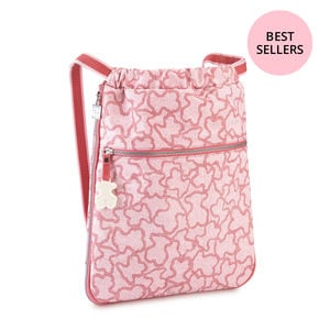 Rucksack Kaos New Colores aus Leinen in Rosa