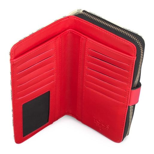 Mediana Billetera Kaos Icon Multi Beige - Rojo