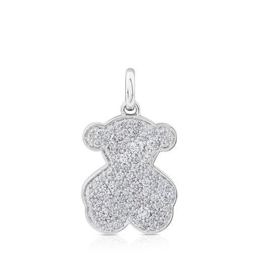 White Gold TOUS Icon Gems Pendant with Diamonds 2cm.