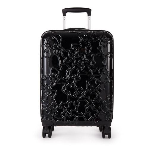 Βαλίτσα με ροδάκια Albatana σε μαύρο χρώμα