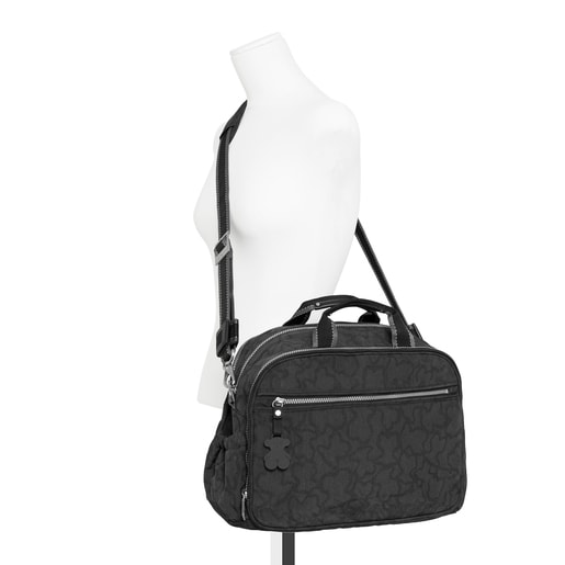 Anthracite-black colored Kaos New Colores Baby bag