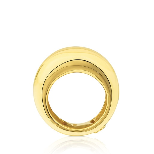 Vermeil Silver Warm Ring