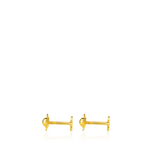 Gold TOUS Basics Earrings Flower motif.