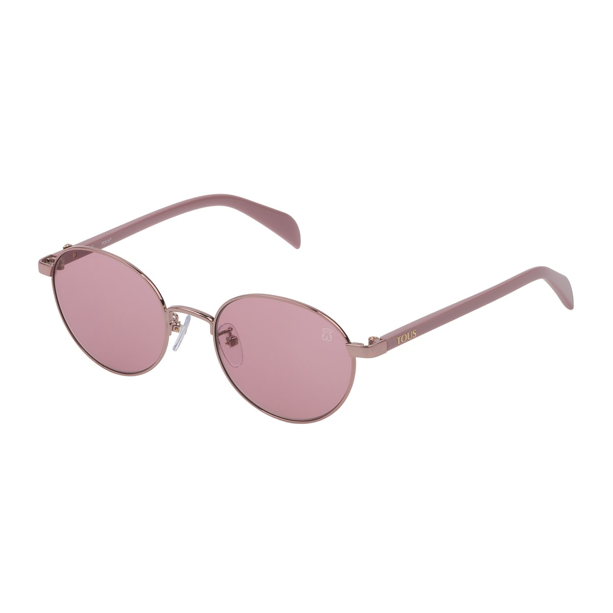 Pink Metal Metal Bear Sunglasses