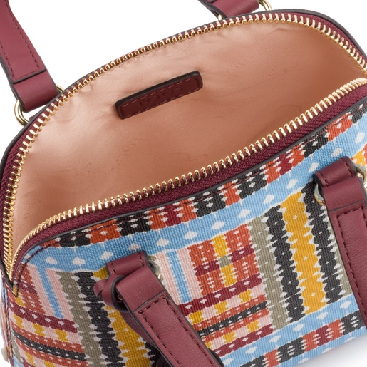 Mini multi-burgundy Alicya Bowling bag