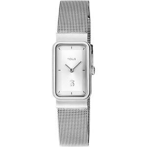 Steel Squared Mesh Watch