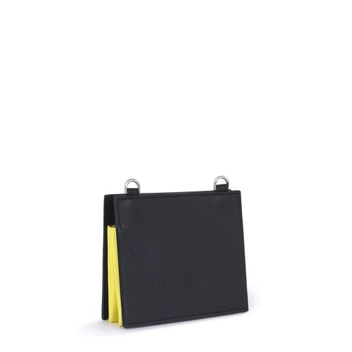 Black New Essence Wallet-Crossbody bag