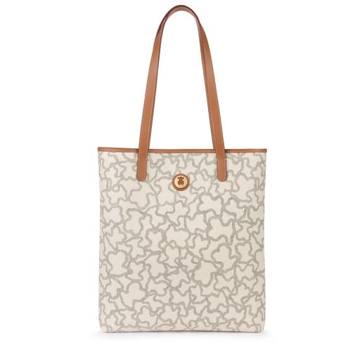 Sac shopping Kaos New Total en Toile de couleurs sable et noir
