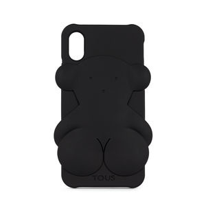 Handyhülle iPhone X Rubber Bear in Schwarz