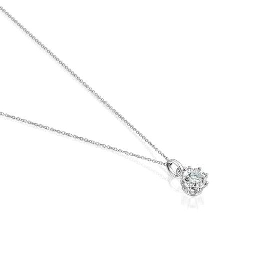 Collar Les Classiques rosetón mediano de Oro blanco y Diamantes