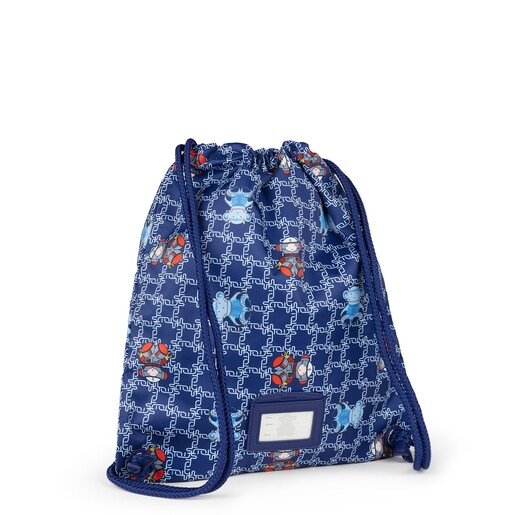 Blue School Logogram flat Backpack