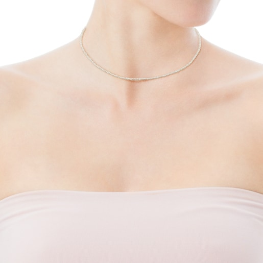 Rose Silver Vermeil Camille Necklace with Pearls