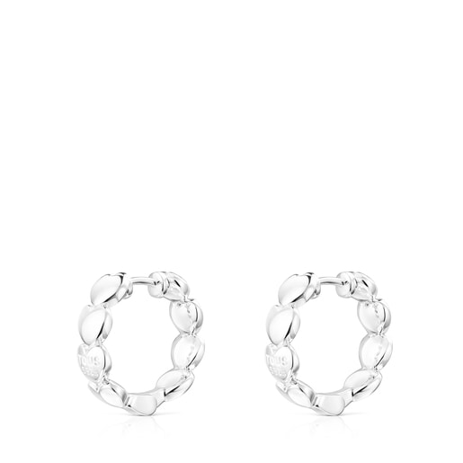 Silver Mini Icons Heart Earrings
