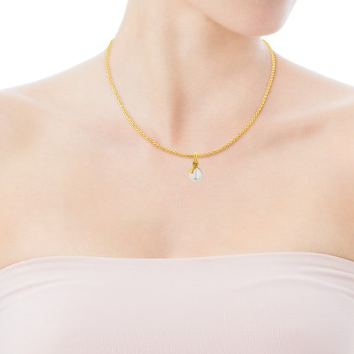 Vermeil Silver Tiny Pendant with Pearl