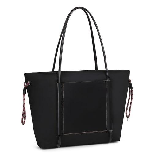 Large black Empire Soft Tote bag