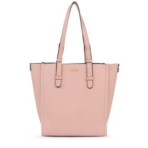 Pink-blue Leather Floriana Shopping bag