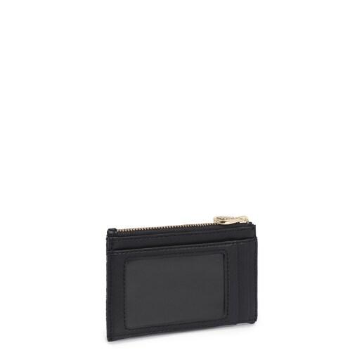 Μαύρο Πορτοφολάκι-θήκη καρτών TOUS Logogram
