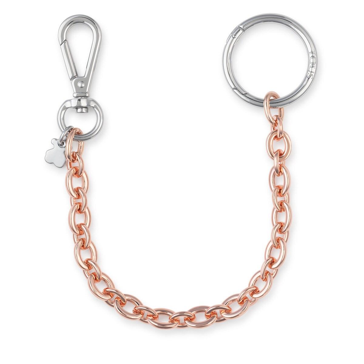 Llavero Hold Chain rosa y plateado