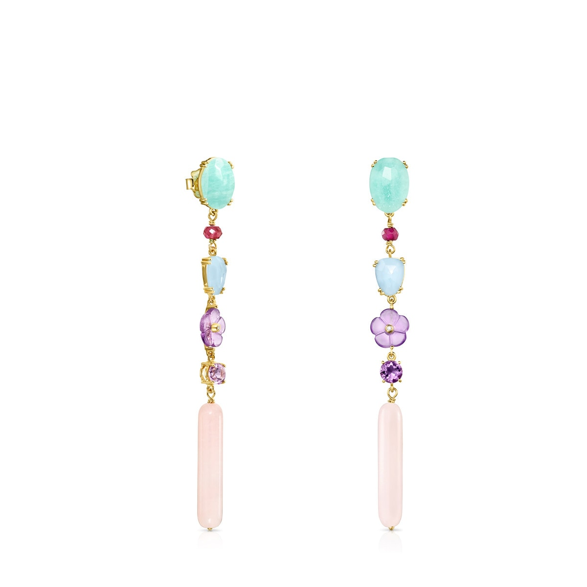 bd28e3b59c393c Long Vita earrings in Gold with Gemstones - Tous Site US