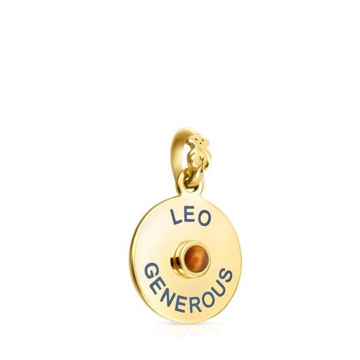 Anhänger TOUS Horoscopes Leo aus Vermeil-Silber mit Tigerauge