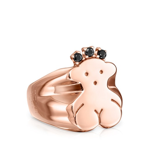 Rose Silver Vermeil Real Sisy Ring with Spinels