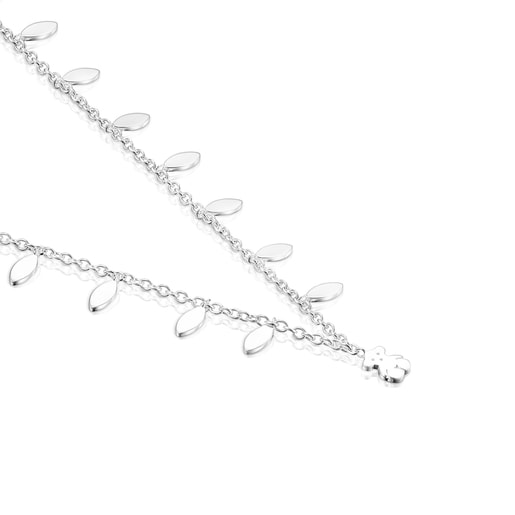 Silver Fragile Nature leaves Necklace