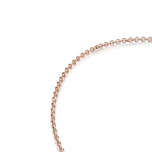 Cadena Hold de plata vermeil rosa