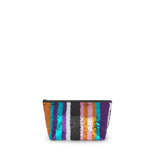 Bolsa Pequeña Kaos Shock Sequins Strips Multicolor