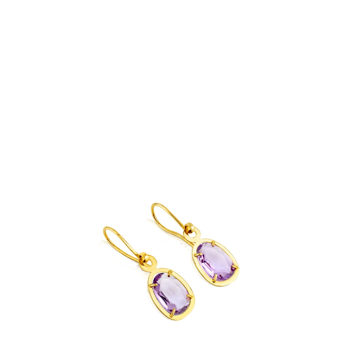 Gold Dinah Earrings with amethyst