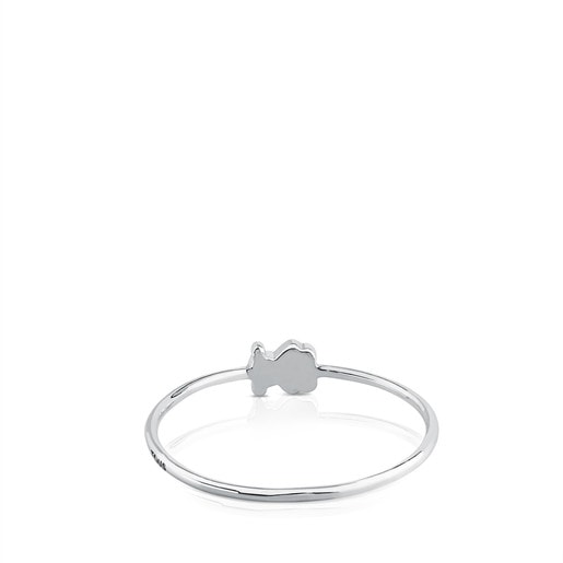 Anillo Puppies de Oro blanco
