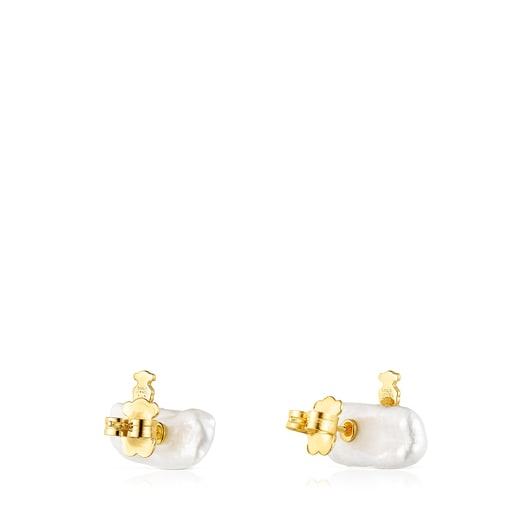 Silver Vermeil TOUS Pearls Earrings with Pearl