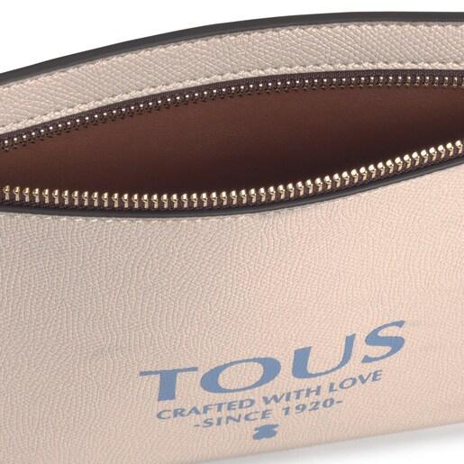 Μπεζ και καφέ τσάντα Clutch TOUS Essential
