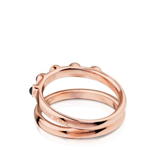 Rose Vermeil Silver Super Power Ring with Gemstones