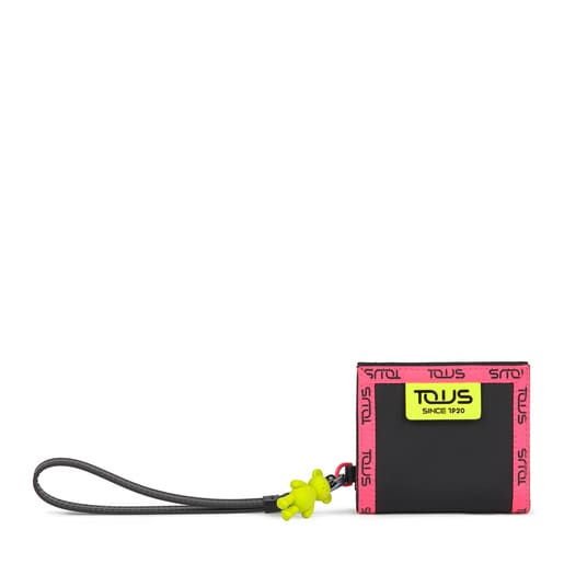 Small black and multicolored Ina Wallet