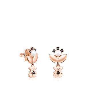 Rose Gold Vermeil Real Sisy Earrings with Gemstones